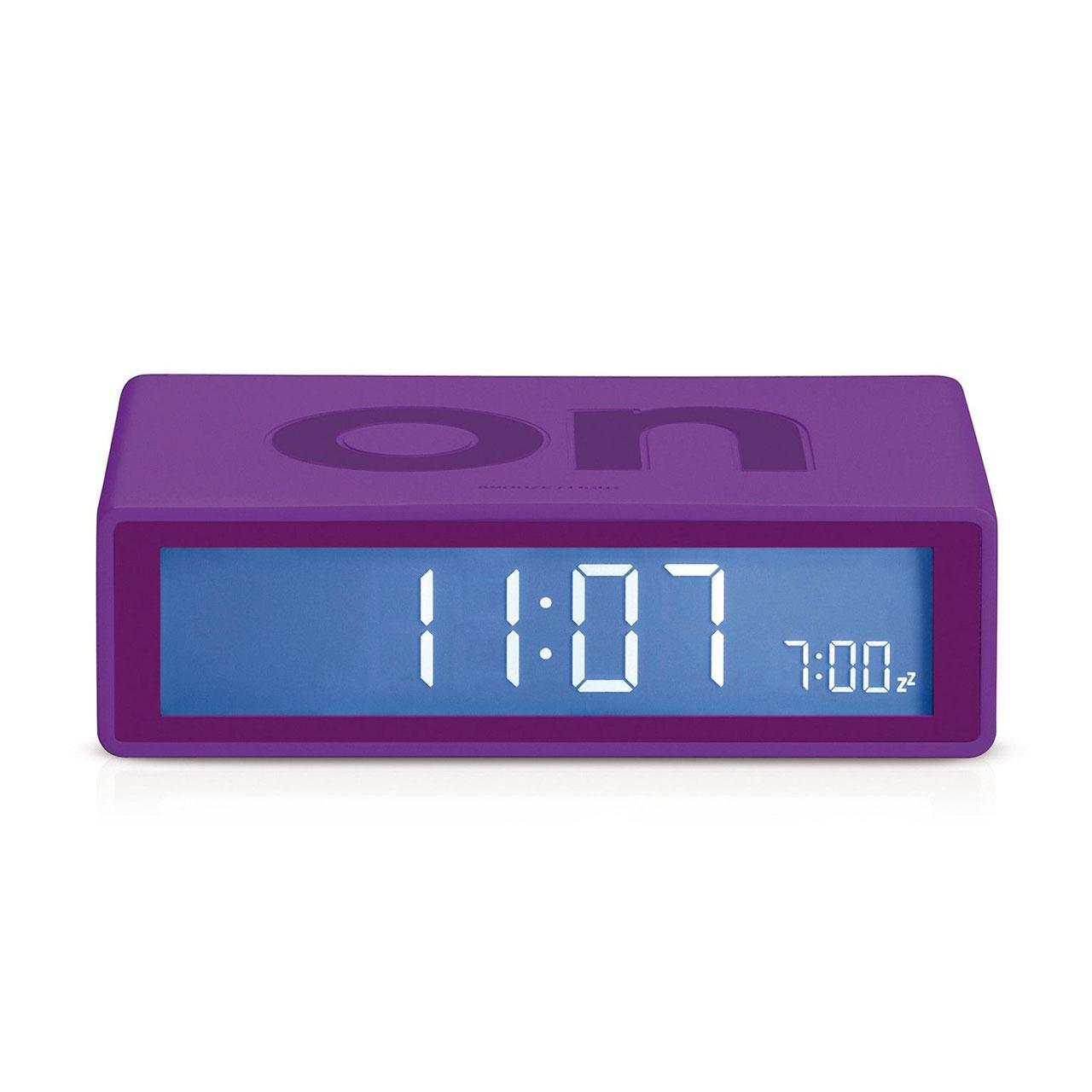 LEXON Flip+ LCD alarm clock LR150F0 purple | the design gift shop