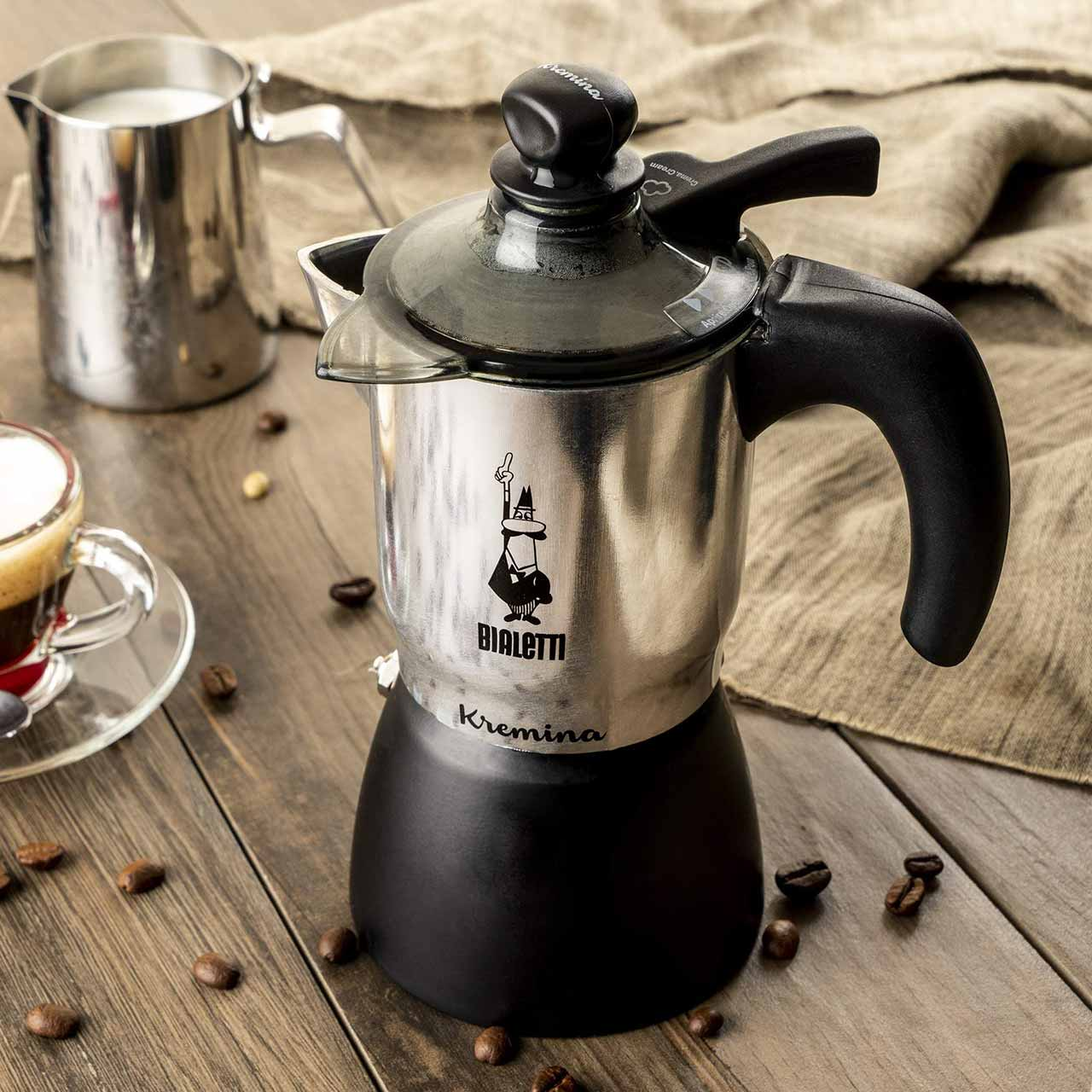 Bialetti Kremina 3 cup Macchiato Coffee Pot | the design gift shop