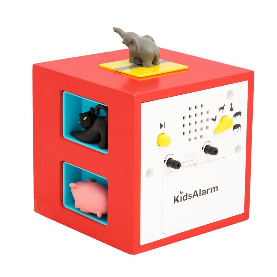 KidsAlarm red alarm clock (rear)   the design gift shop