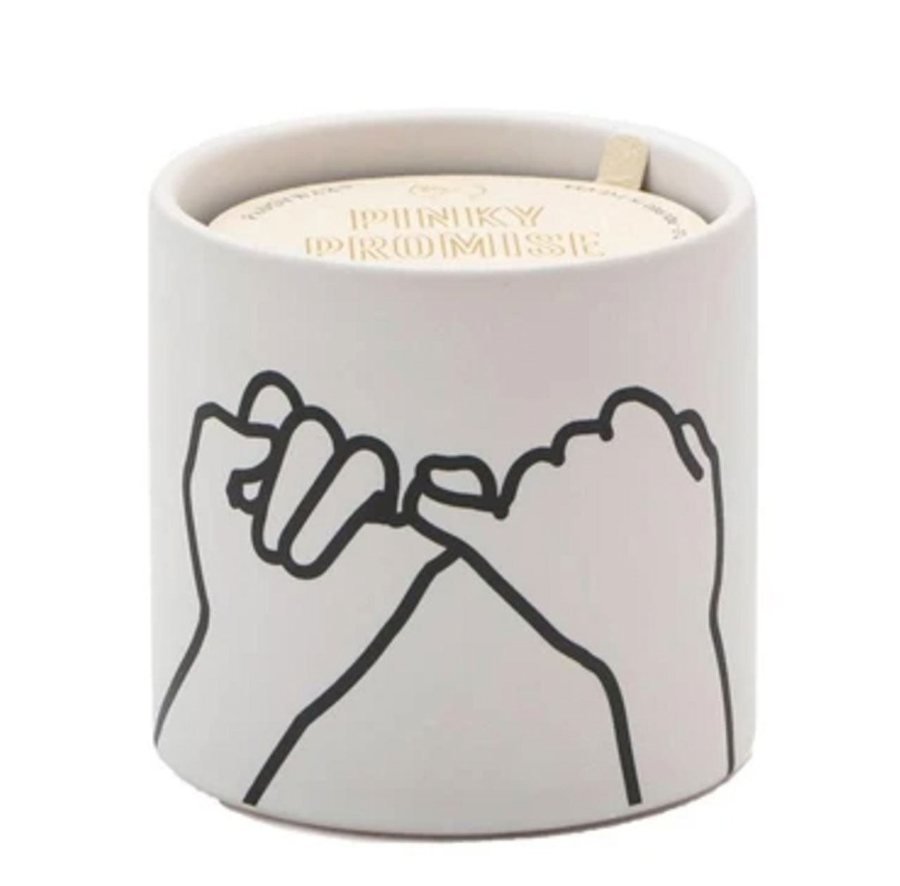 PADDYWAX Impressions Soy Candle PINKY PROMISE Wild Fig & Cedar | the design gift shop