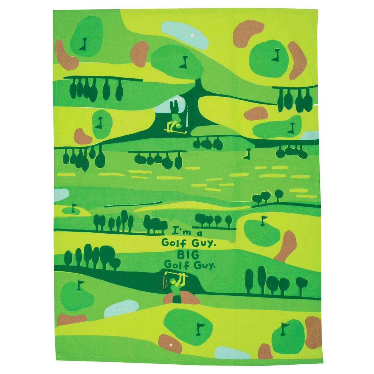 'I'm a Golf Guy, Big Golf Guy' Dish Towel by Blue Q  | The Design Gift Shop
