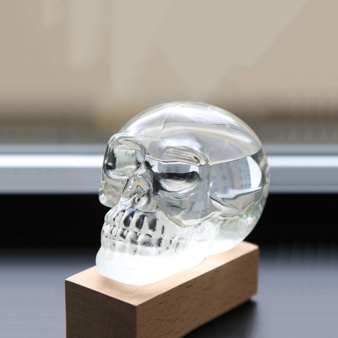 Skull Storm Glass Weather Station by ISgift | the design gift shop