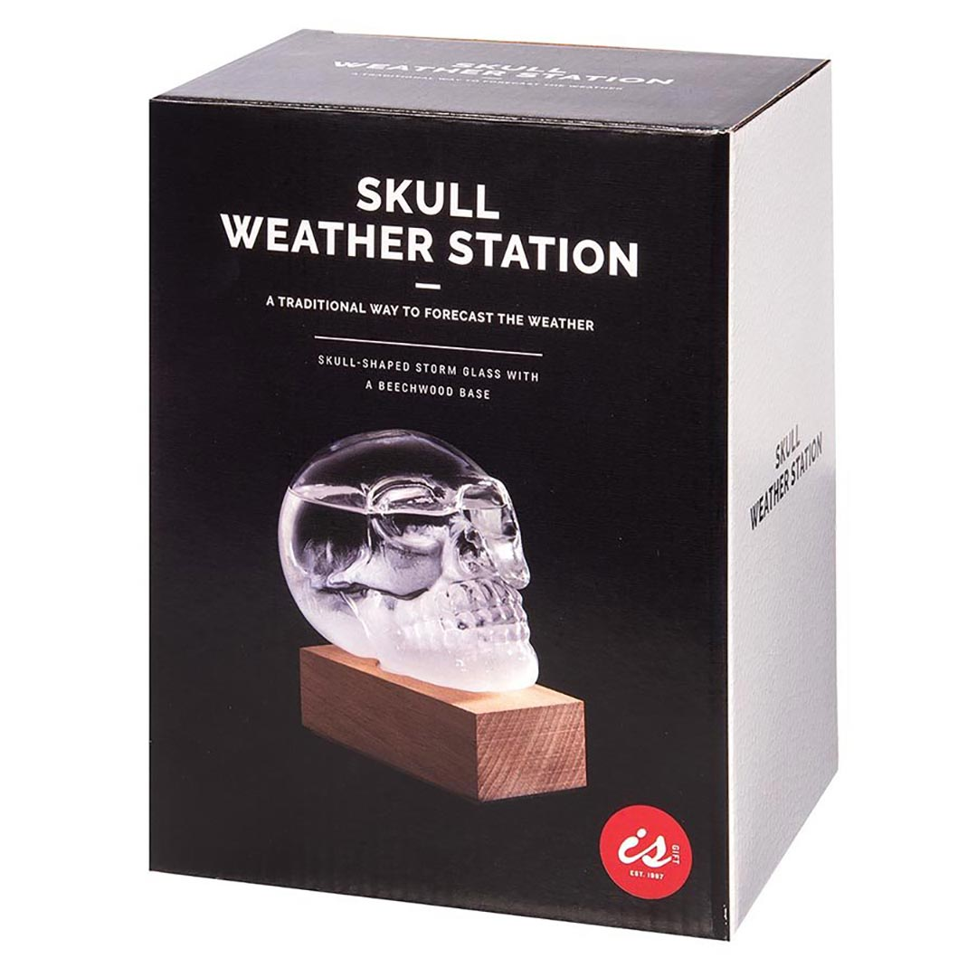Skull Storm Glass Weather Station by ISgift (packaging) | the design gift shop