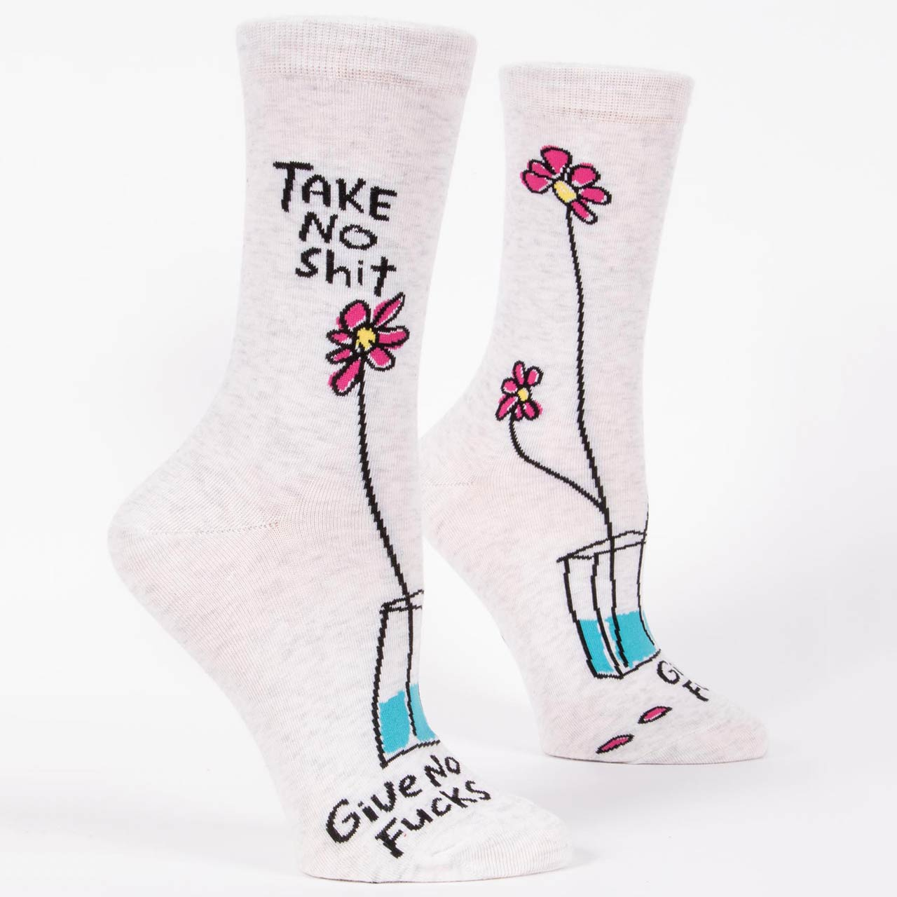 Blue Q Women's Socks 'Take No Shit Give No Fucks' | the design gift shop