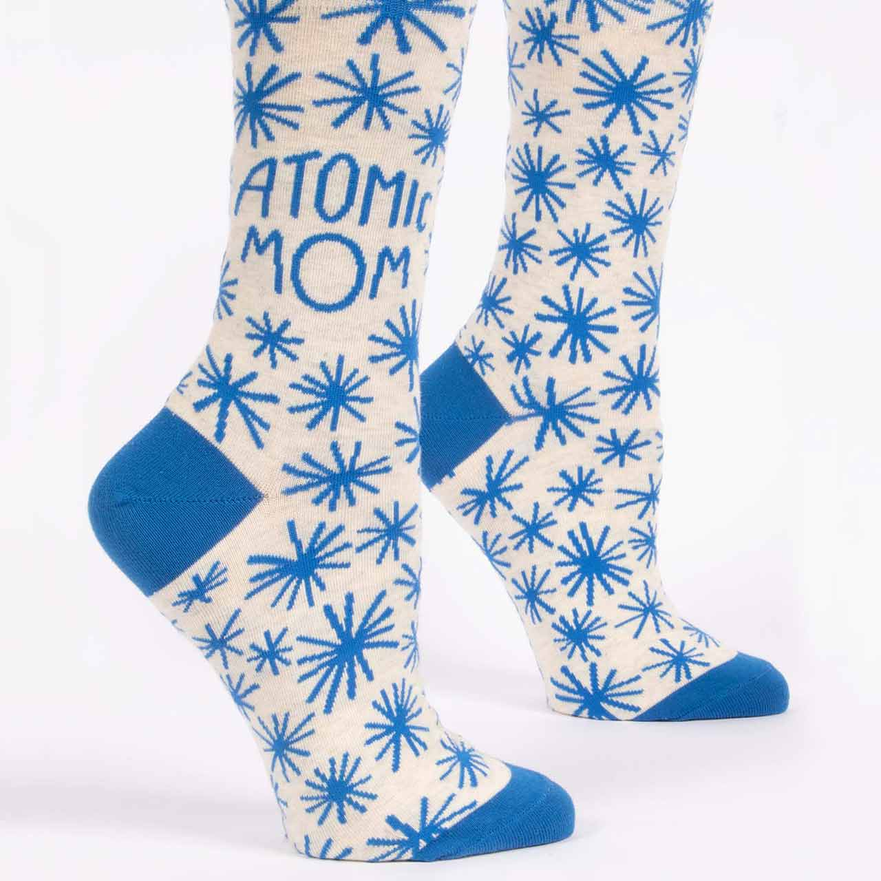 Blue Q Women's Socks 'Atomic Mom' | the design gift shop