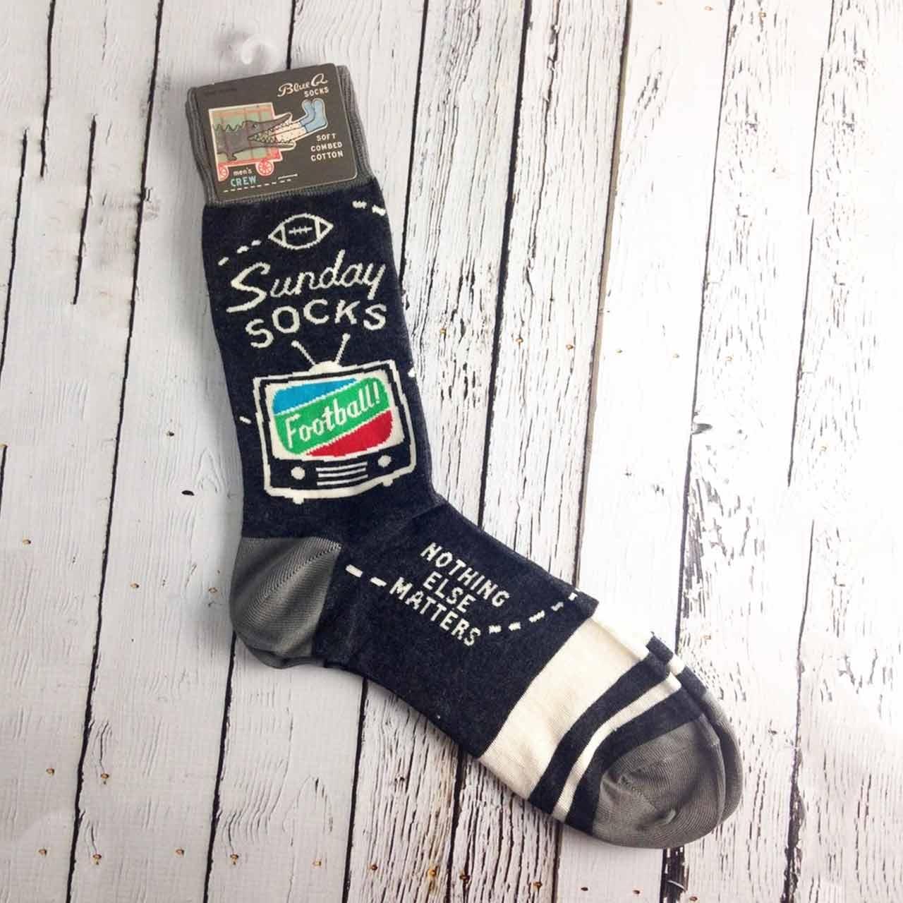 Blue Q Men's Socks 'Sunday Football' | the design gift shop