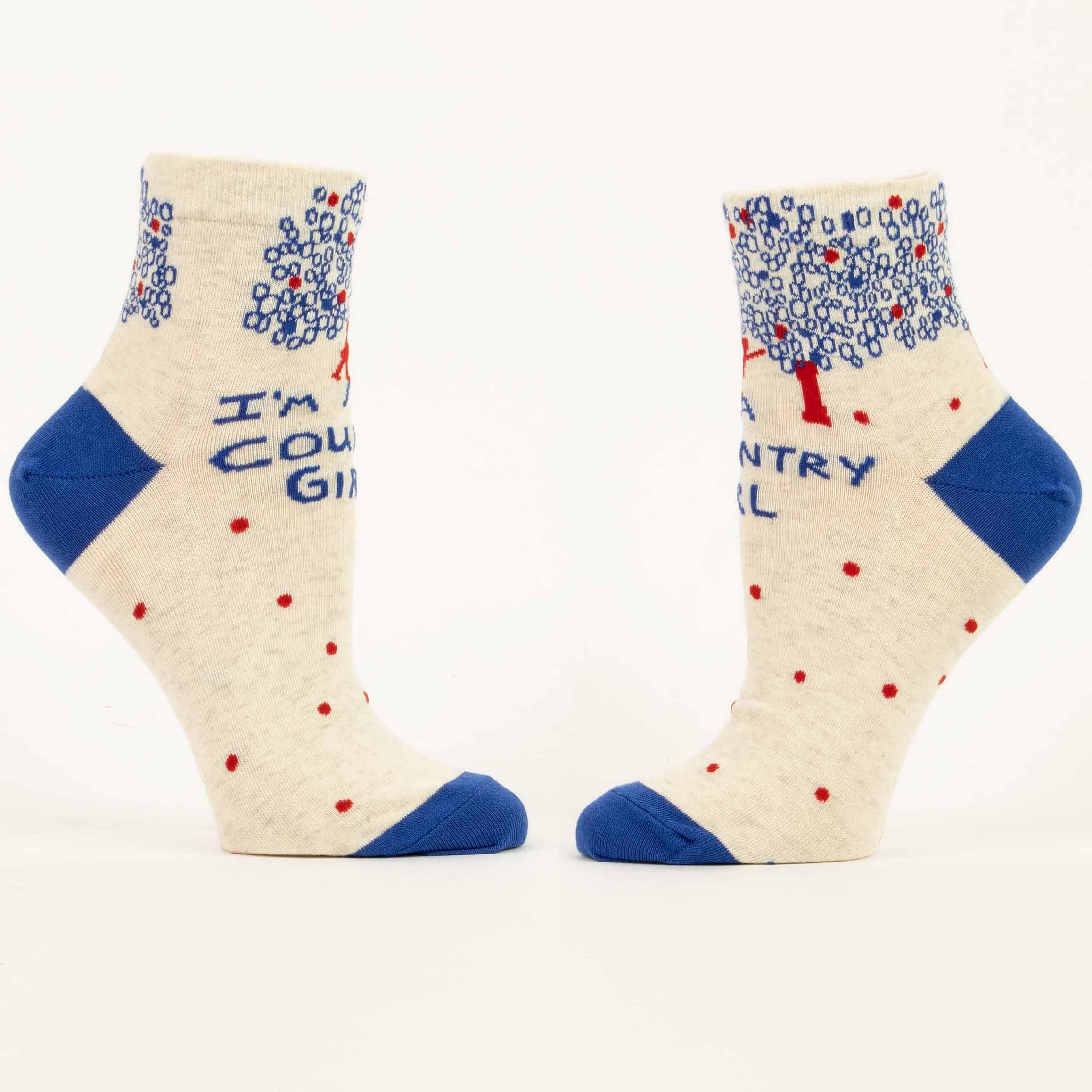 Blue Q Women's Socks 'I'm A Country Girl' | the design gift shop