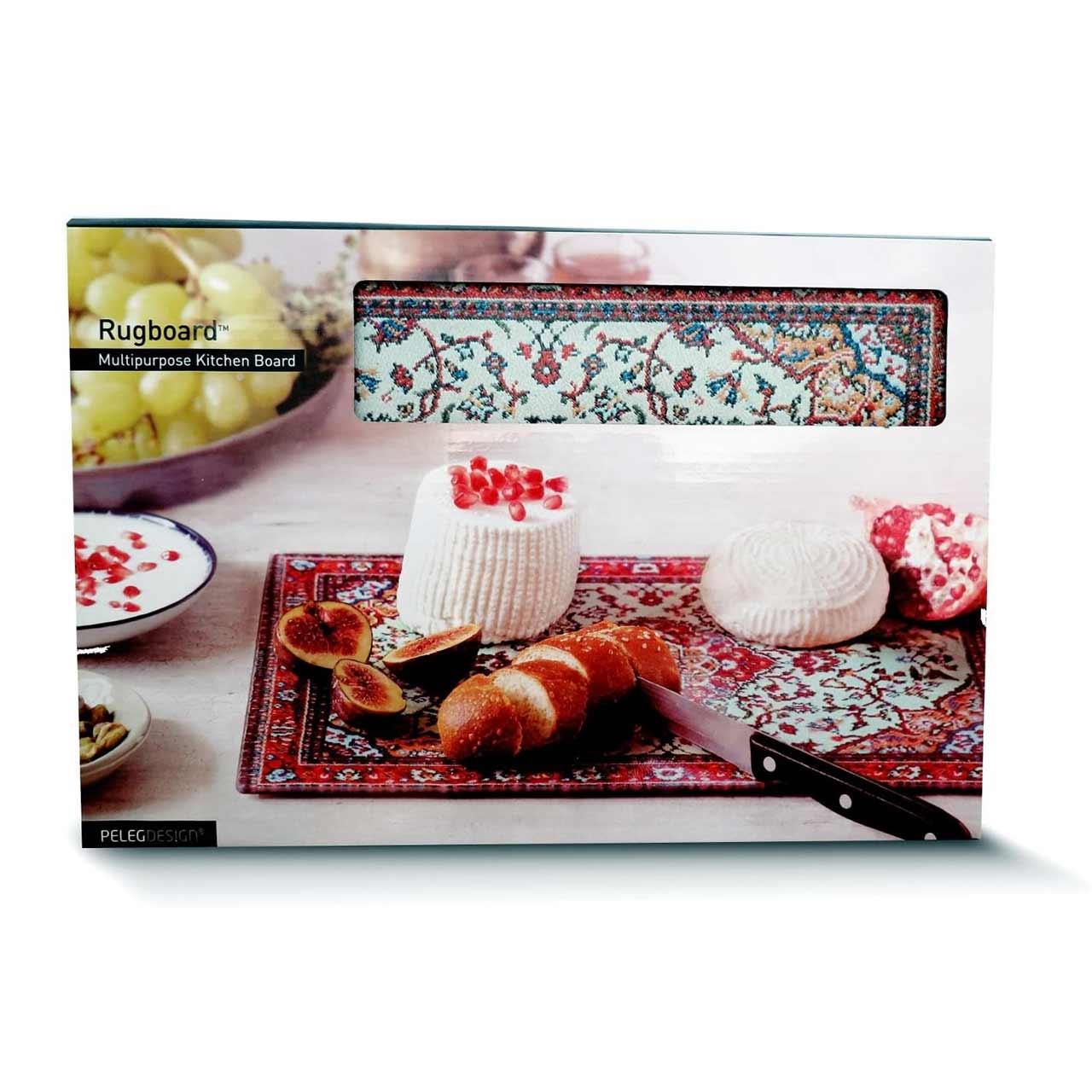 Peleg Design Rugboard Tempered Glass Cutting Board  | the design gift shop