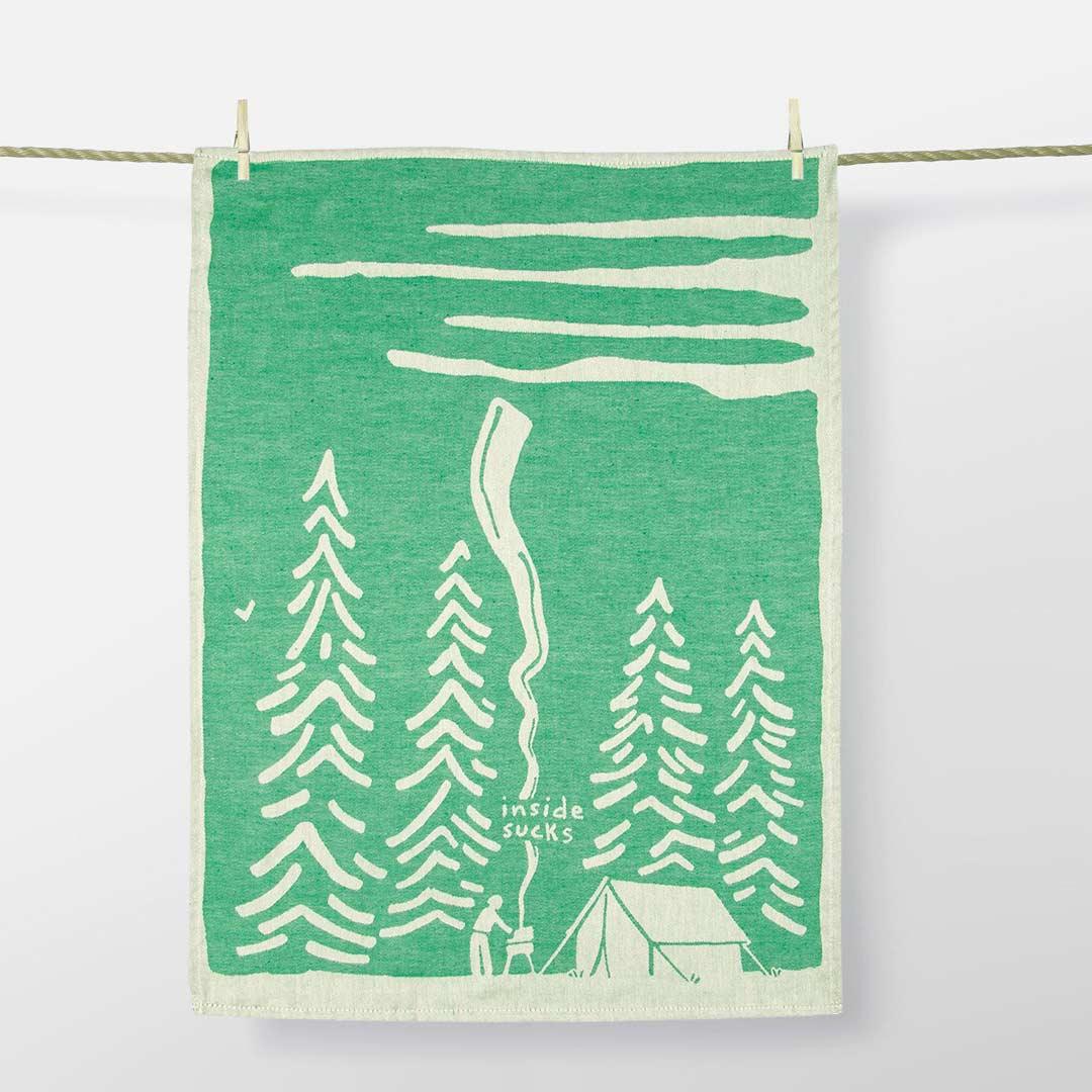 'Inside Sucks' Dish Towel by Blue Q  | the design gift shop