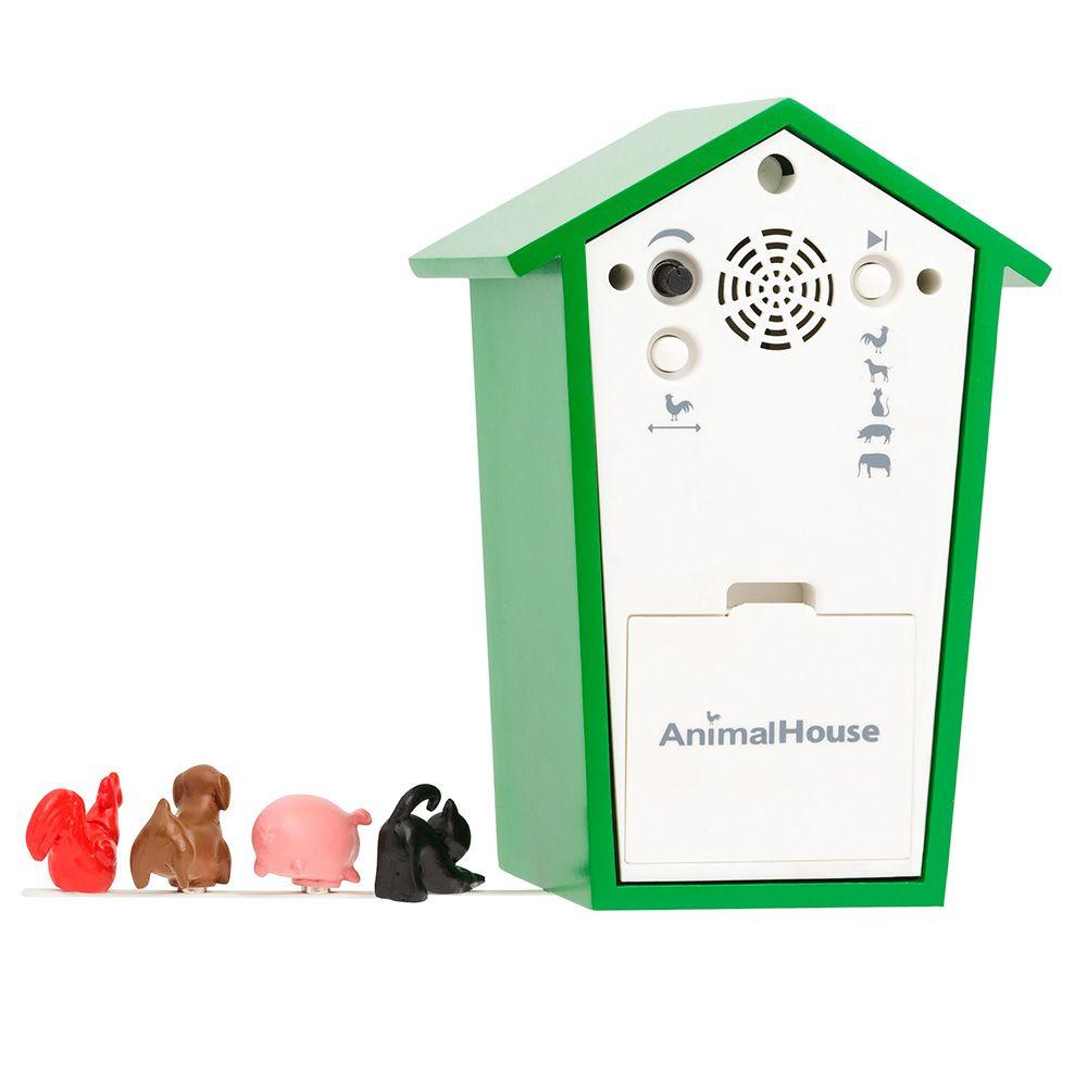 KooKoo AnimalHouse green wall clock and mantel clock | the design gift shop