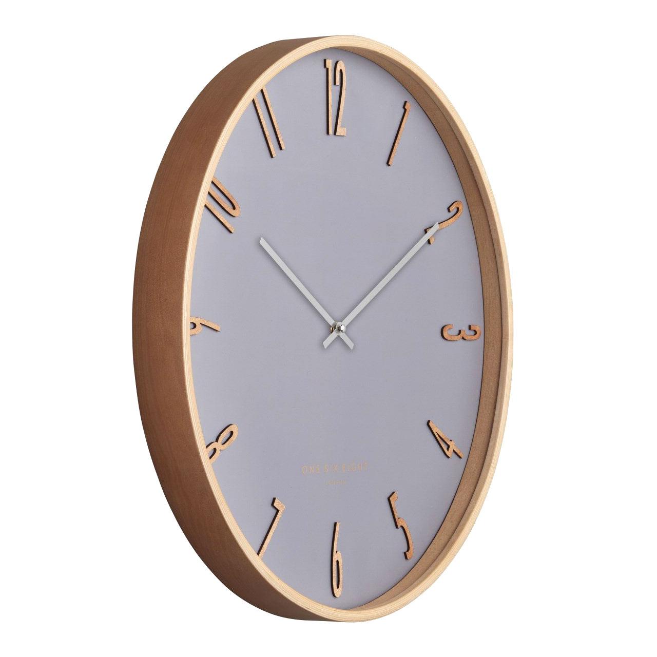 One Six Eight London silent wall clock Ellis cool grey - Ø 41 x 4.5 cm | the design gift shop