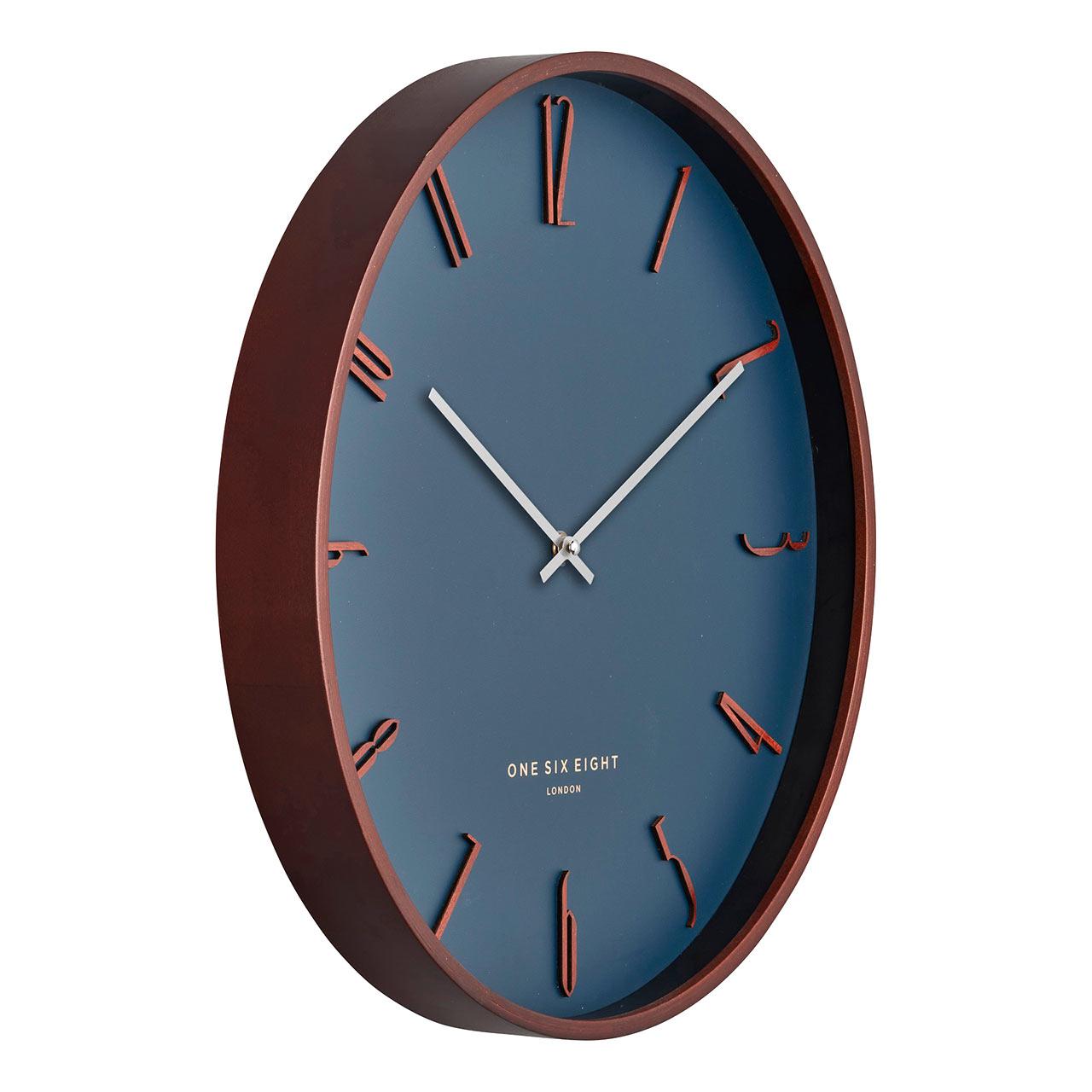 ONE SIX EIGHT LONDON silent wall clock SAMUEL petrol cool grey - Ø 41 x 4.5 cm | the design gift shop