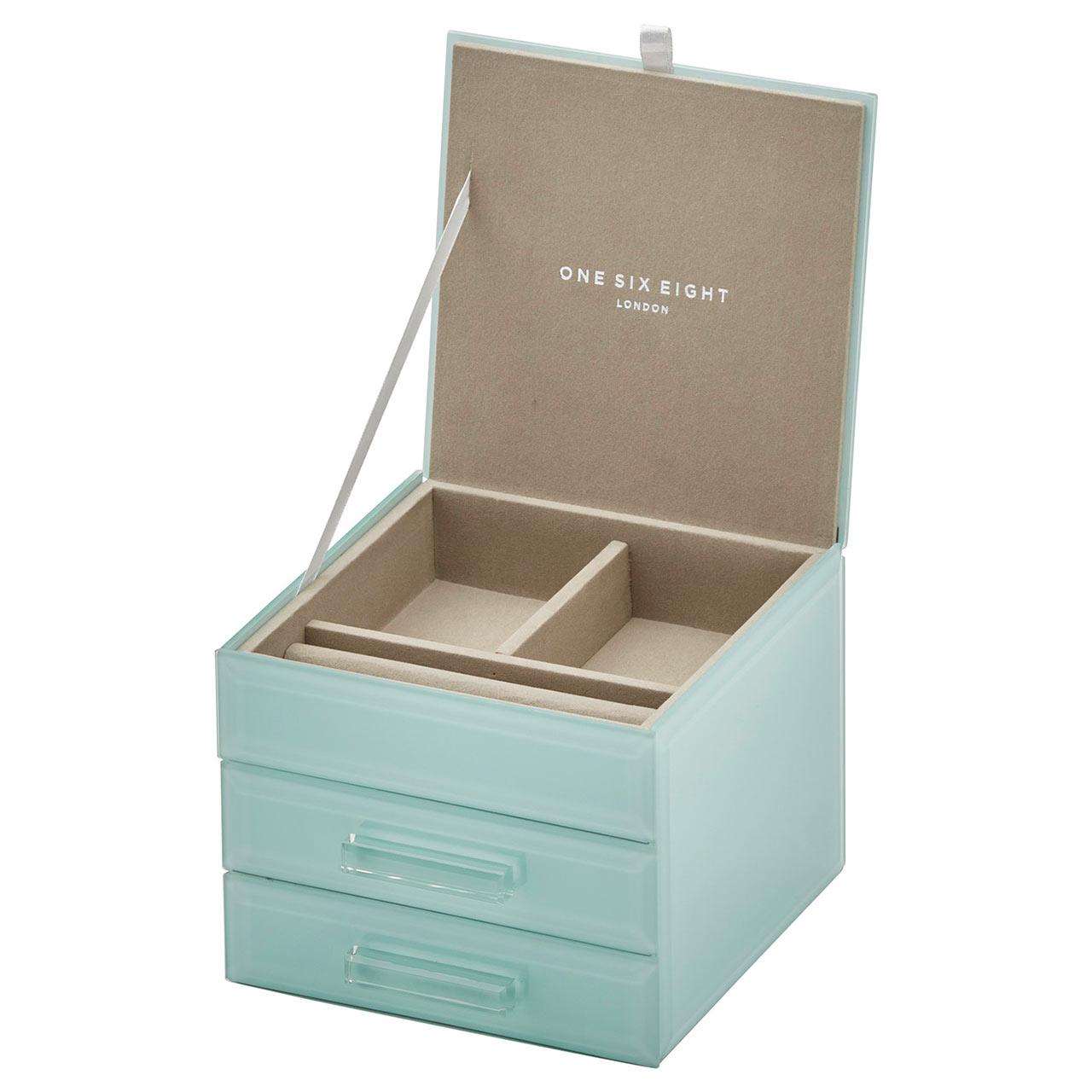ONE SIX EIGHT LONDON Jewellery Box GABRIELLA Mint | the design gift shop