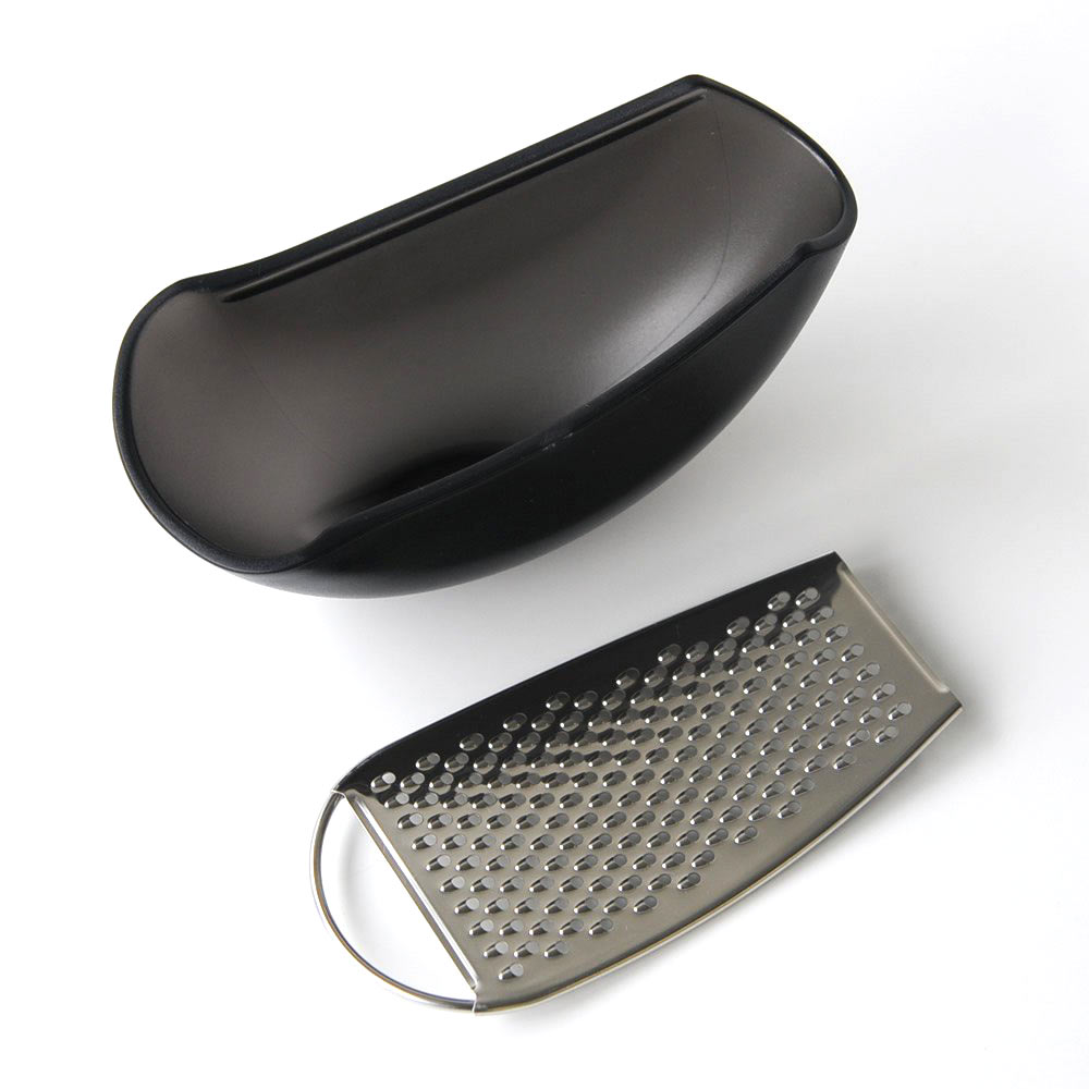 ALESSI PARMENIDE  Grater with black cheese cellar | the design gift shop