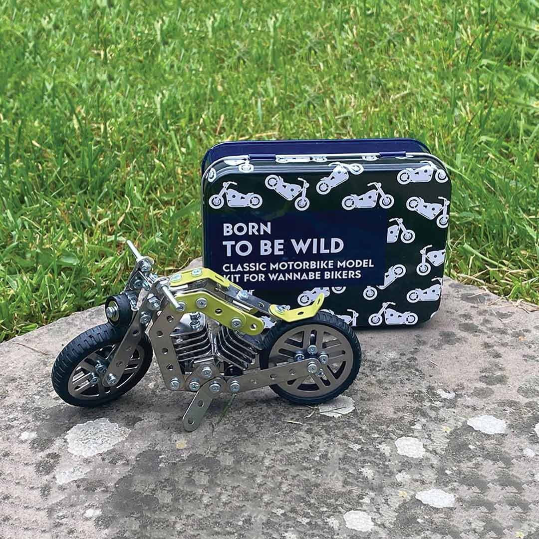 Apples to Pears 'Born to be wild' classic motorbike construction kit | the design gift shop