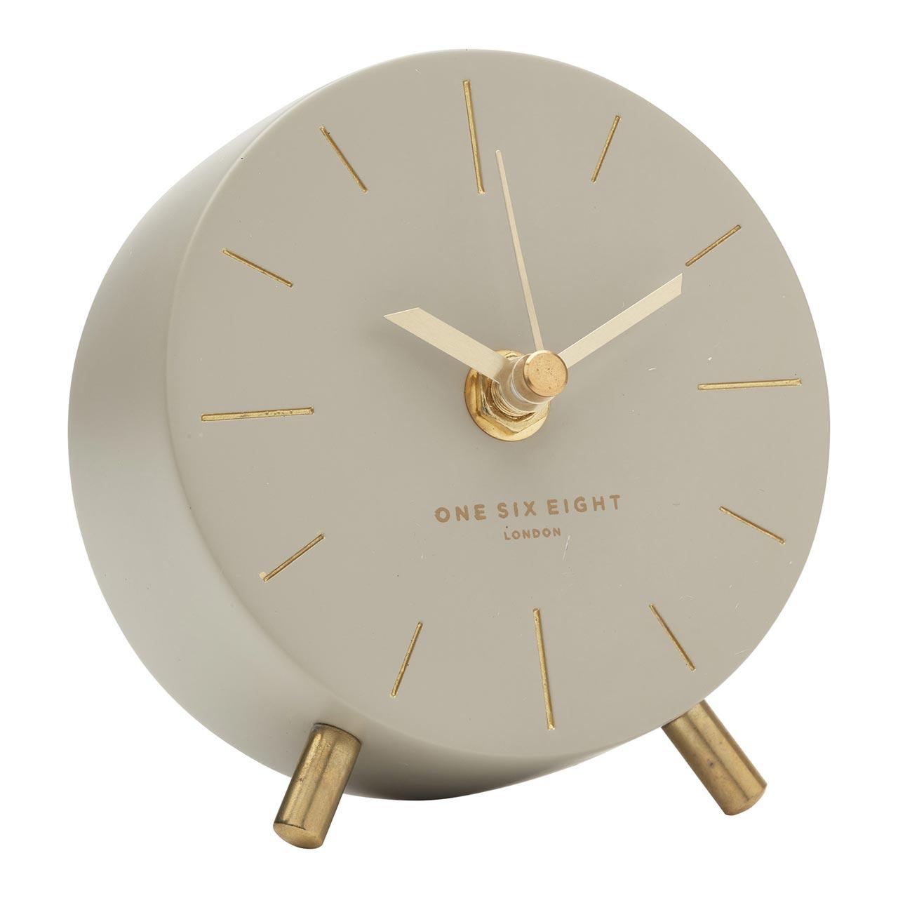 ONE SIX EIGHT LONDON silent concrete mantel clock ANGELO - Ø 11cm x 12cm x 4.5cm | the design gift shop