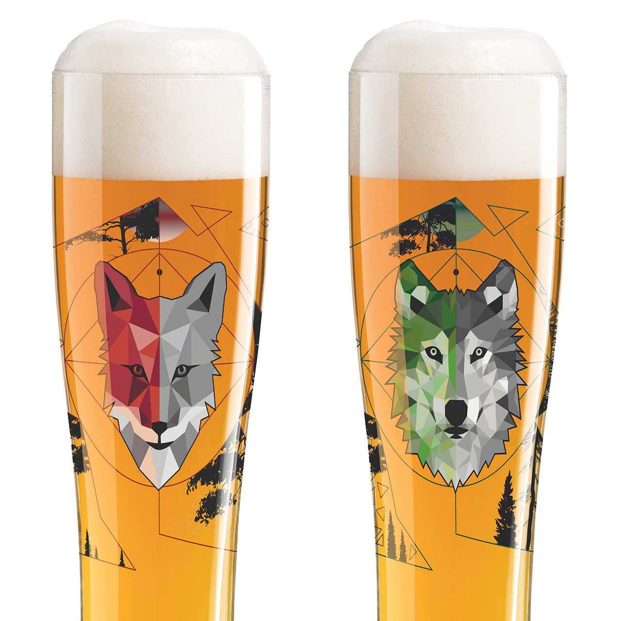 RITZENHOFF Freibier Duett Wheat Beer Glass Set Wolfster & Foxster | the design gift shop