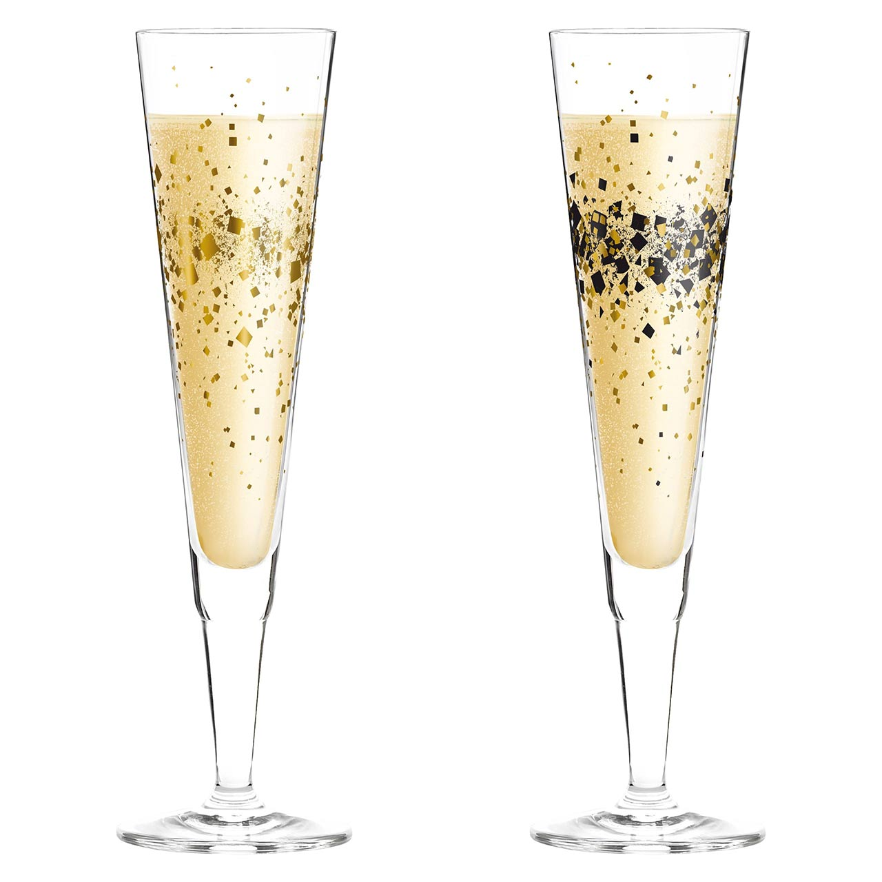 RITZENHOFF Champus Champagne Glass Set DAY & NIGHT SPARKLE | the design gift shop