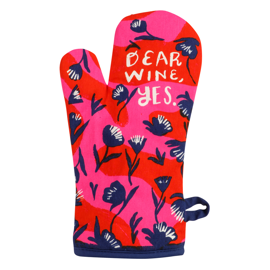 Dear Wine, Yes - One Oven Mitt by Blue Q | The Design Gift Shop
