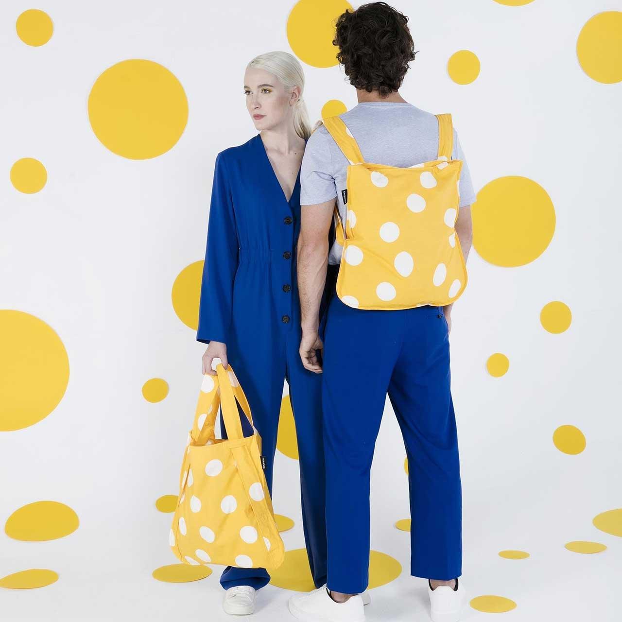 Notabag Shopping Bag & Backpack Golden Dots | the design gift shop