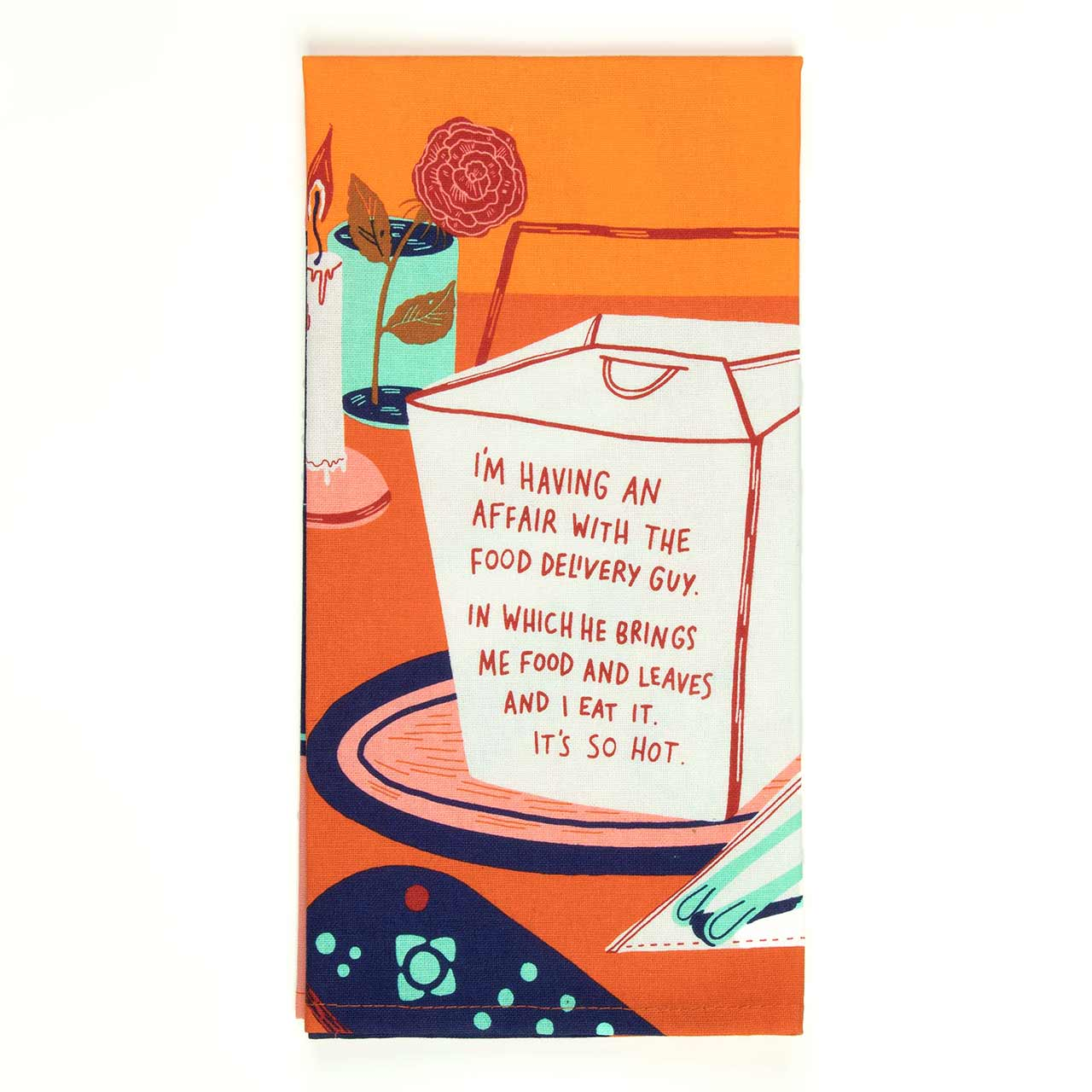 'Affair With The Delivery Guy' Dish Towel by Blue Q  | the design gift shop