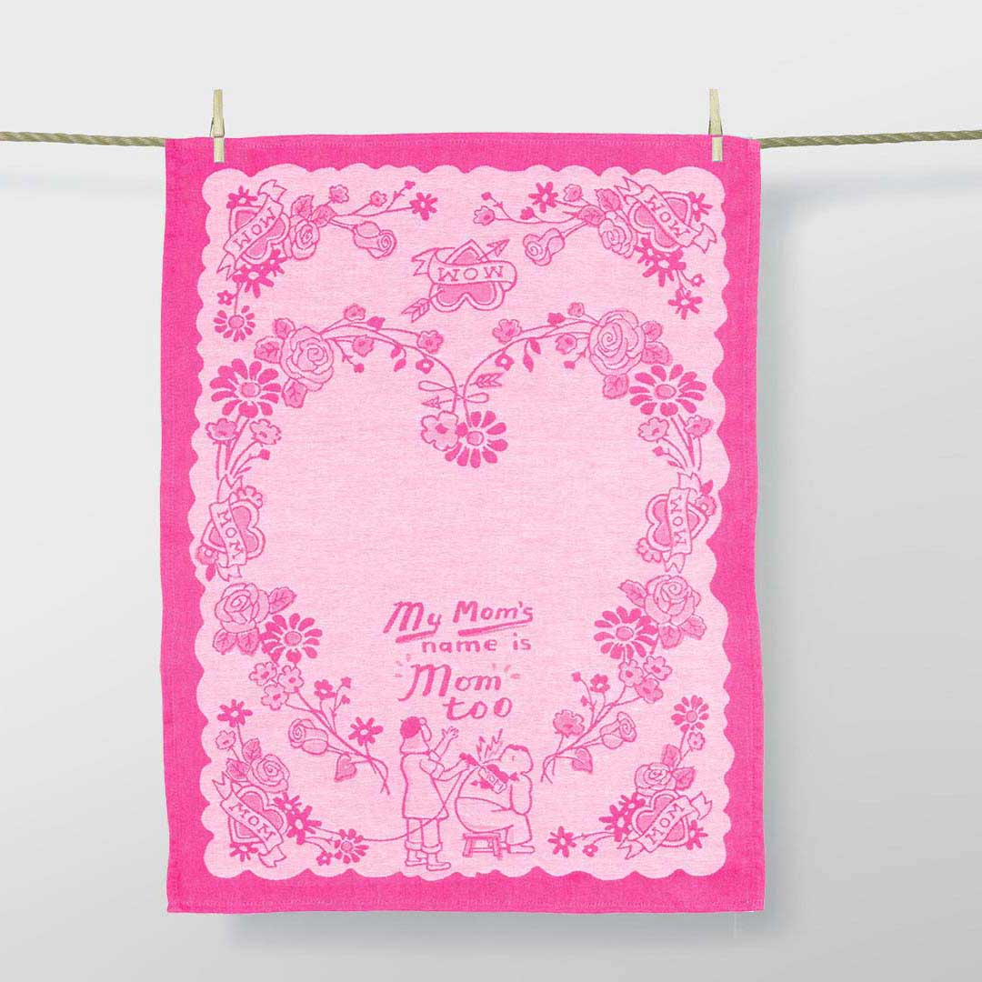'My mom's name is mom too' Dish Towel by Blue Q  | the design gift shop