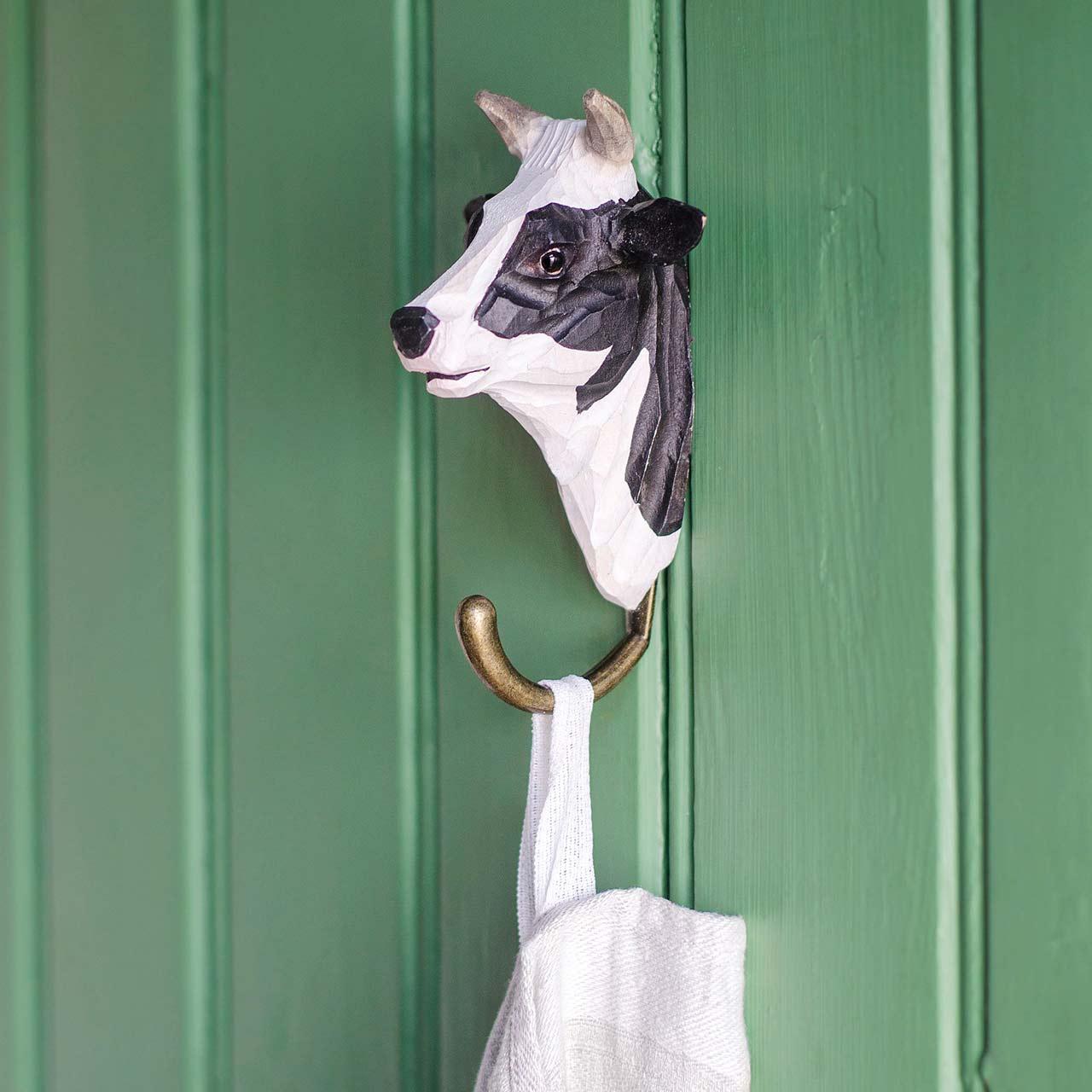 WILDLIFE GARDEN Wall Hook Cow | the design gift shop