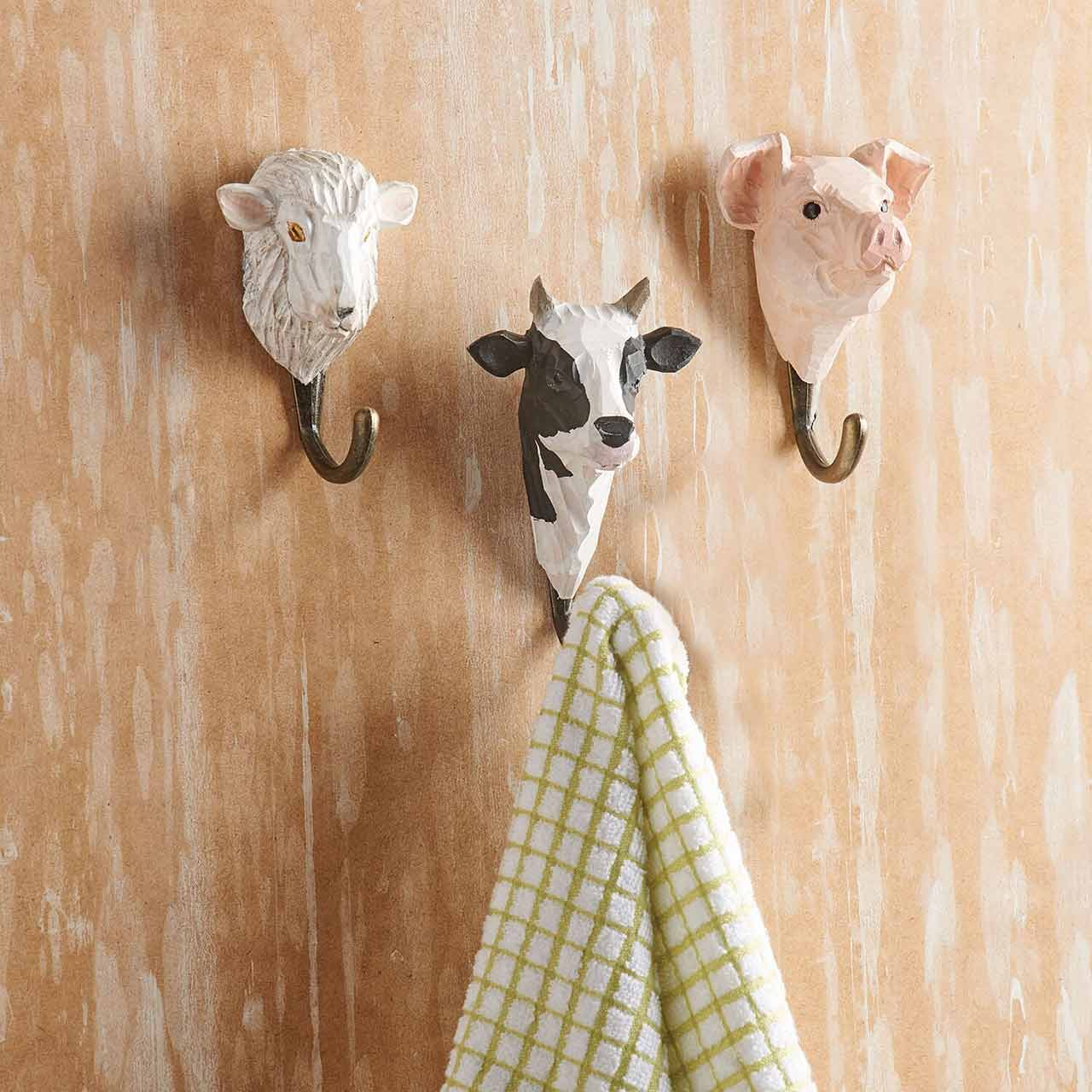 WILDLIFE GARDEN Wall Hooks (only cow hook incl. in offer) | the design gift shop