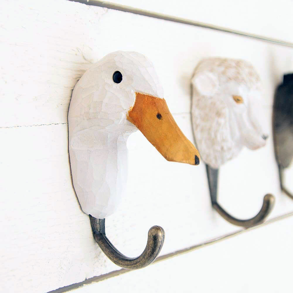 WILDWILD LIFE GARDEN Wall Hooks (only duck hook incl. in offer) | the design gift shop