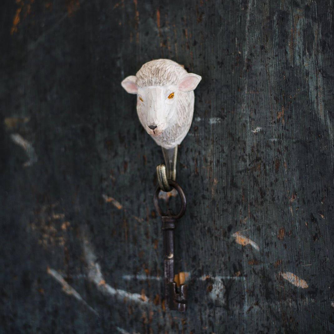 WILDLIFE GARDEN Wall Hook Sheep | the design gift shop