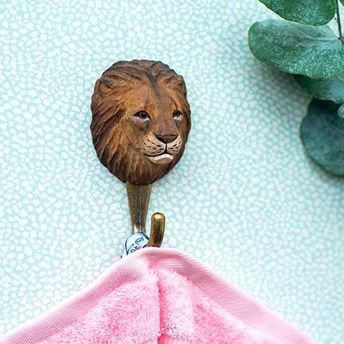 WILDLIFE GARDEN Wall Hook Lion | the design gift shop