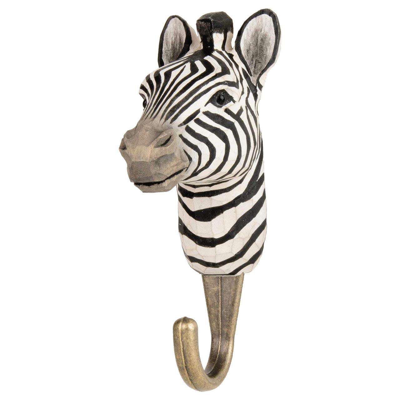 WILDLIFE GARDEN Wall Hook Zebra | the design gift shop