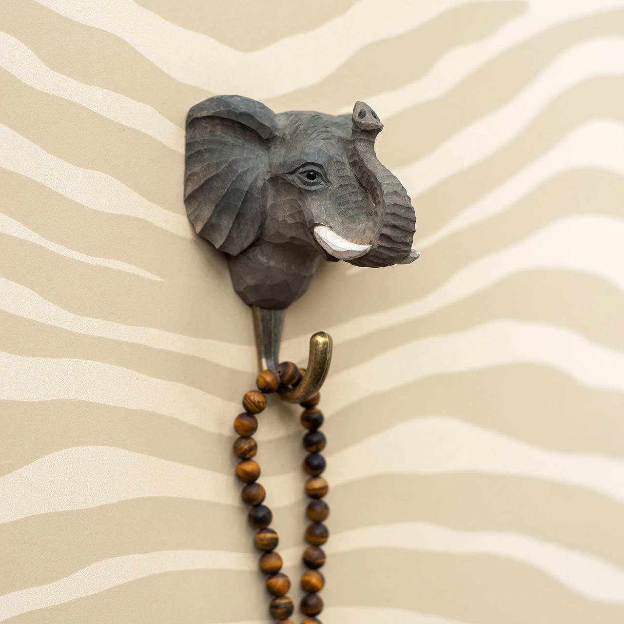 WILDLIFE GARDEN Wall Hook Elephant   the design gift shop