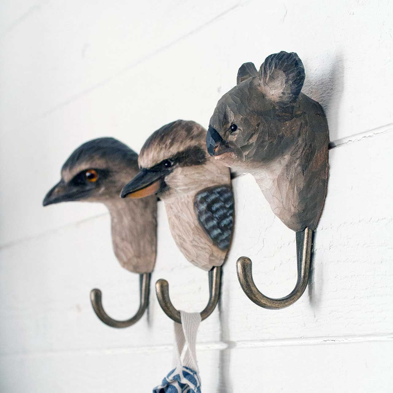 WILDLIFE GARDEN Wall Hooks (only kookaburra hook incl. in offer)   the design gift shop