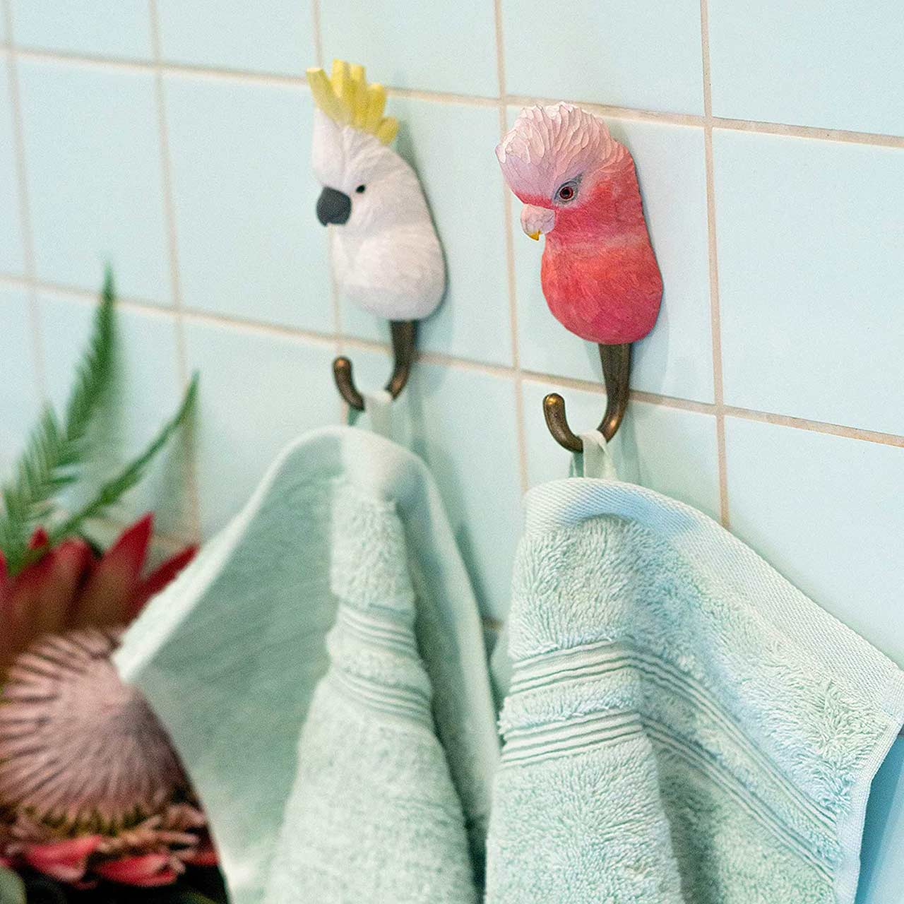 WILDLIFE GARDEN Wall Hook Cockatoo (Galah not part of the offer) | the design gift shop
