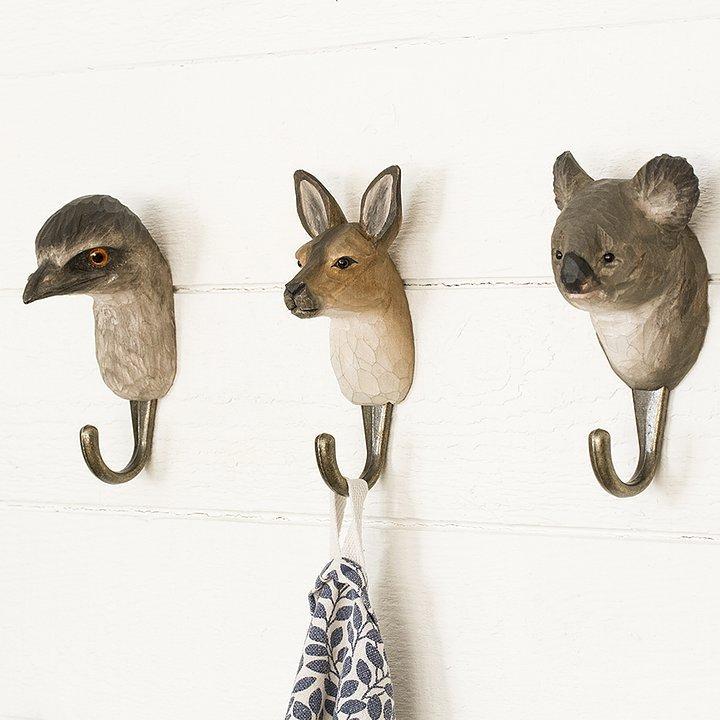 WILDWILD LIFE GARDEN Wall Hooks (only kangaroo incl. in offer)   the design gift shop