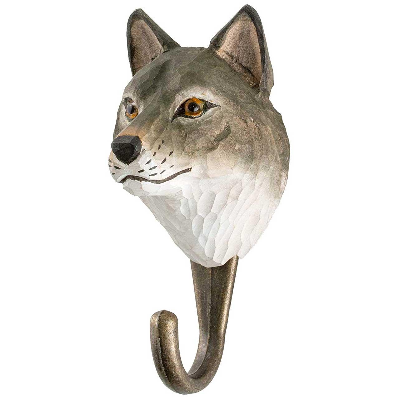 WILDLIFE GARDEN Wall Hook Wolf | the design gift shop