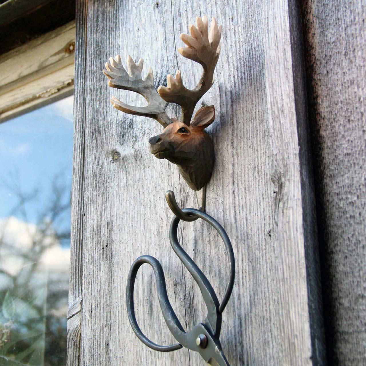 WILDLIFE GARDEN Wall Hook Red Deer | the design gift shop