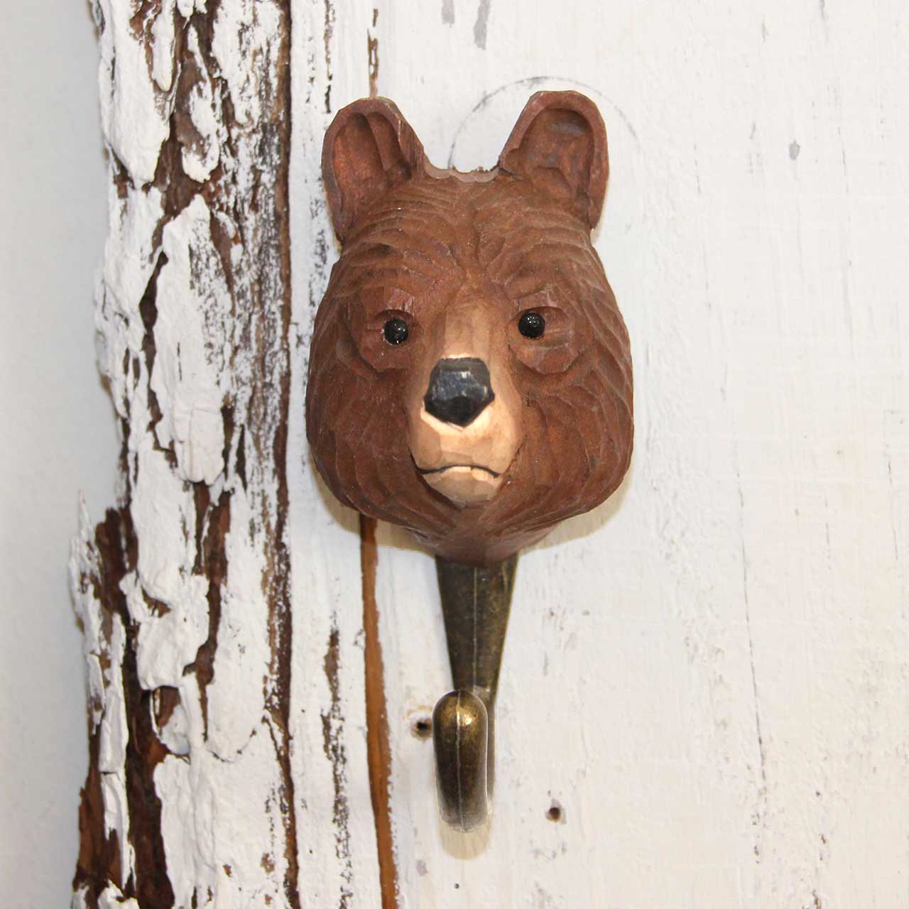 WILDLIFE GARDEN Wall Hook Brown Bear   the design gift shop