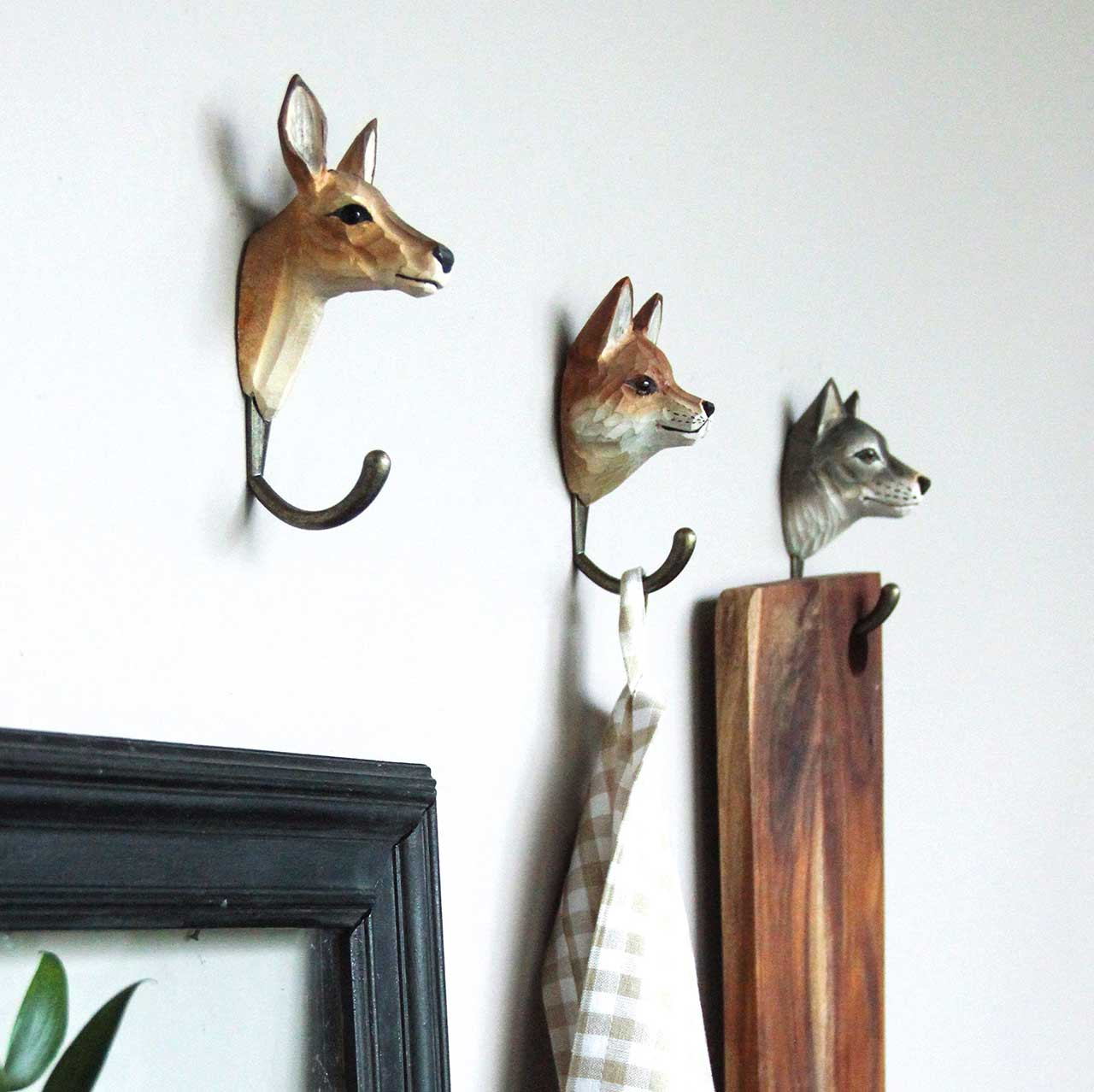WILDLIFE GARDEN Wall Hooks (only red fox incl. in offer) | the design gift shop