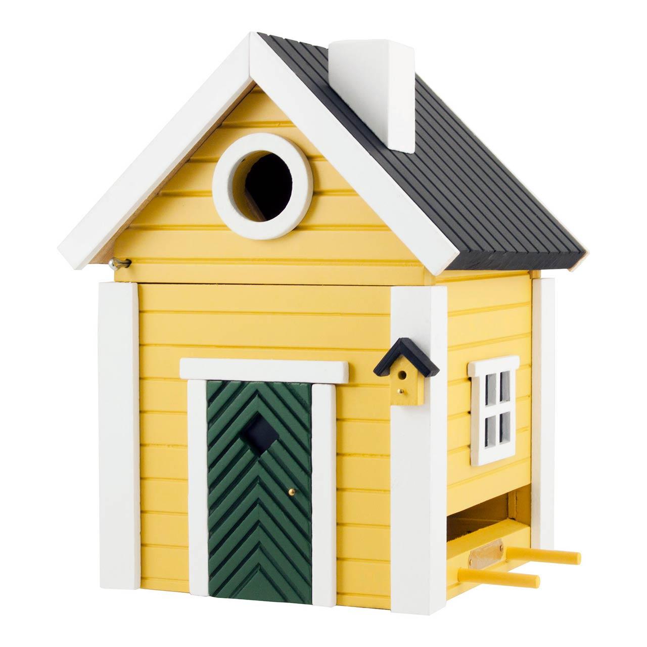 WILDLIFE GARDEN Bird Feeder & Nesting Box Yellow Cottage   the design gift shop