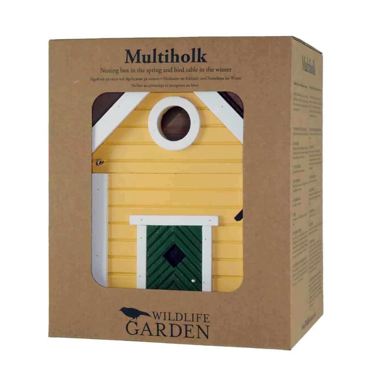 WILDLIFE GARDEN Bird Feeder & Nesting Box Yellow Cottage | the design gift shop