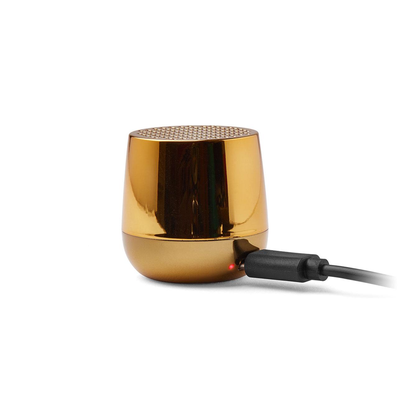 LEXON Mino+ Speaker LA125MMD Metallic Gold   the design gift shop