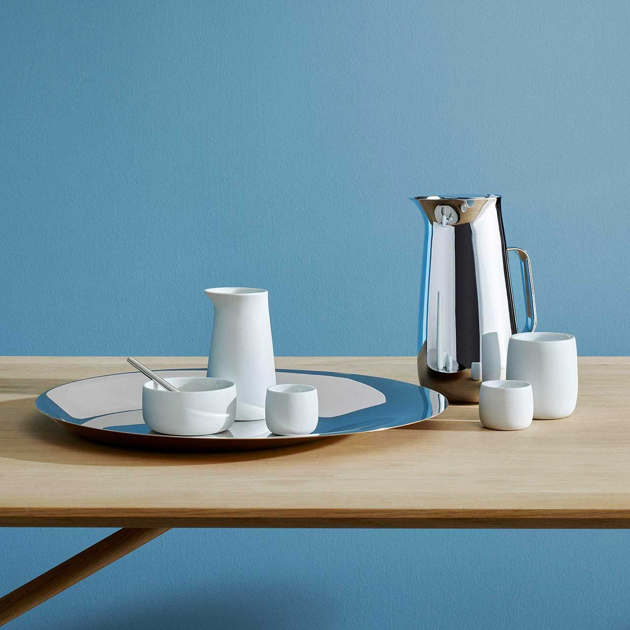 STELTON Foster Vacuum Jug Stainless Steel (only SS jug incl in offer)   the design gift shop