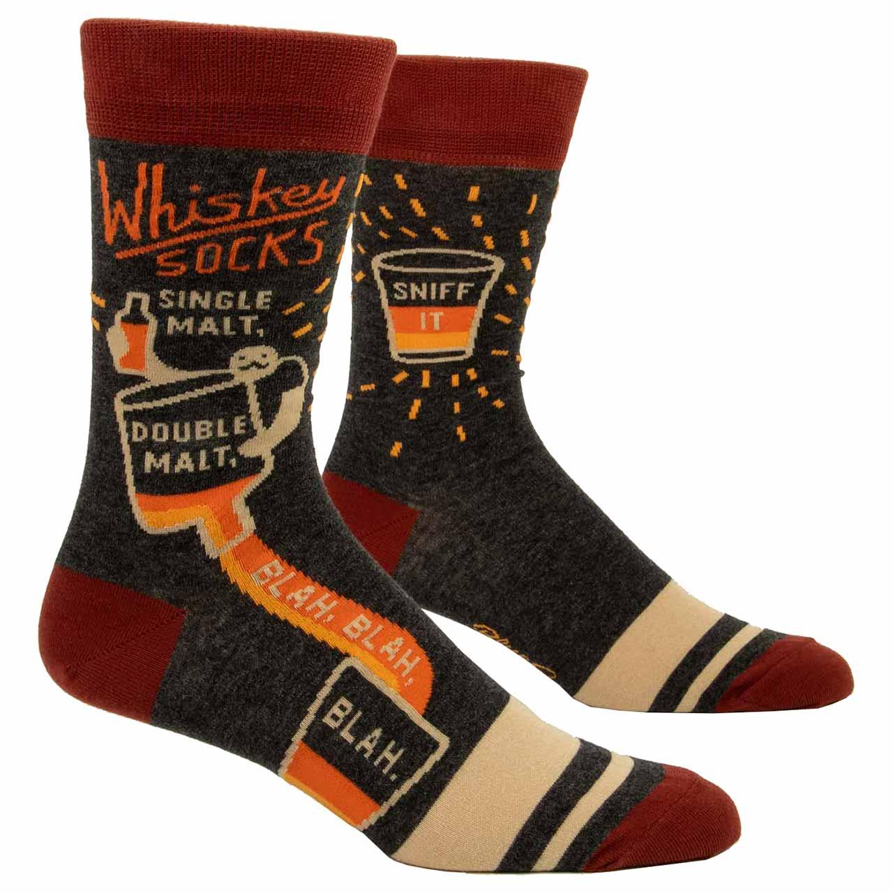 Blue Q Men's Socks 'Whiskey' | the design gift shop
