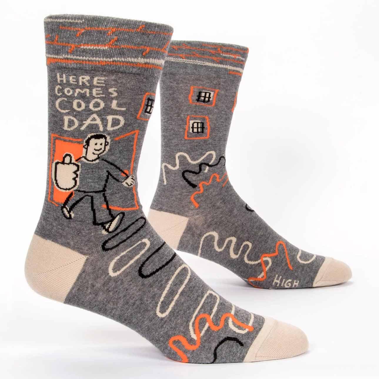 Blue Q Men's Socks 'Here Comes Cool Dad'   the design gift shop