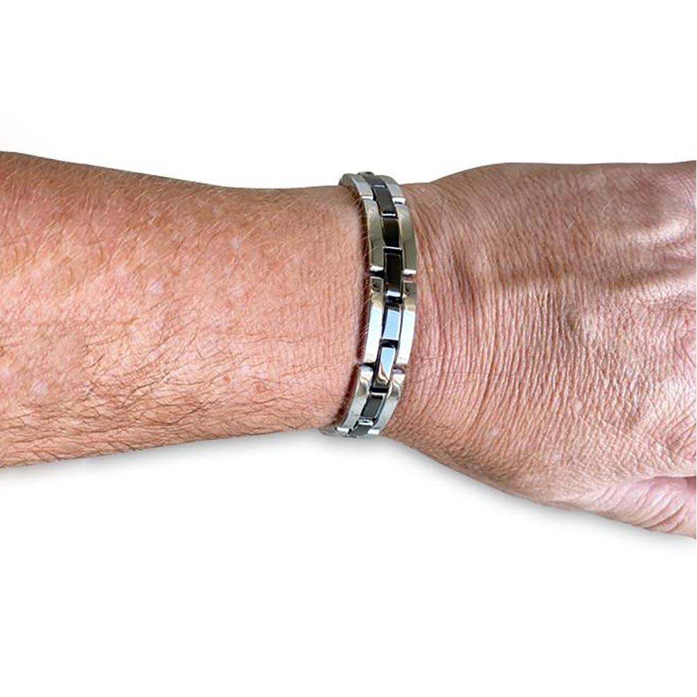 Men's Republic Chrome Chronograph Watch & Bracelet Gift Set   the design gift shop