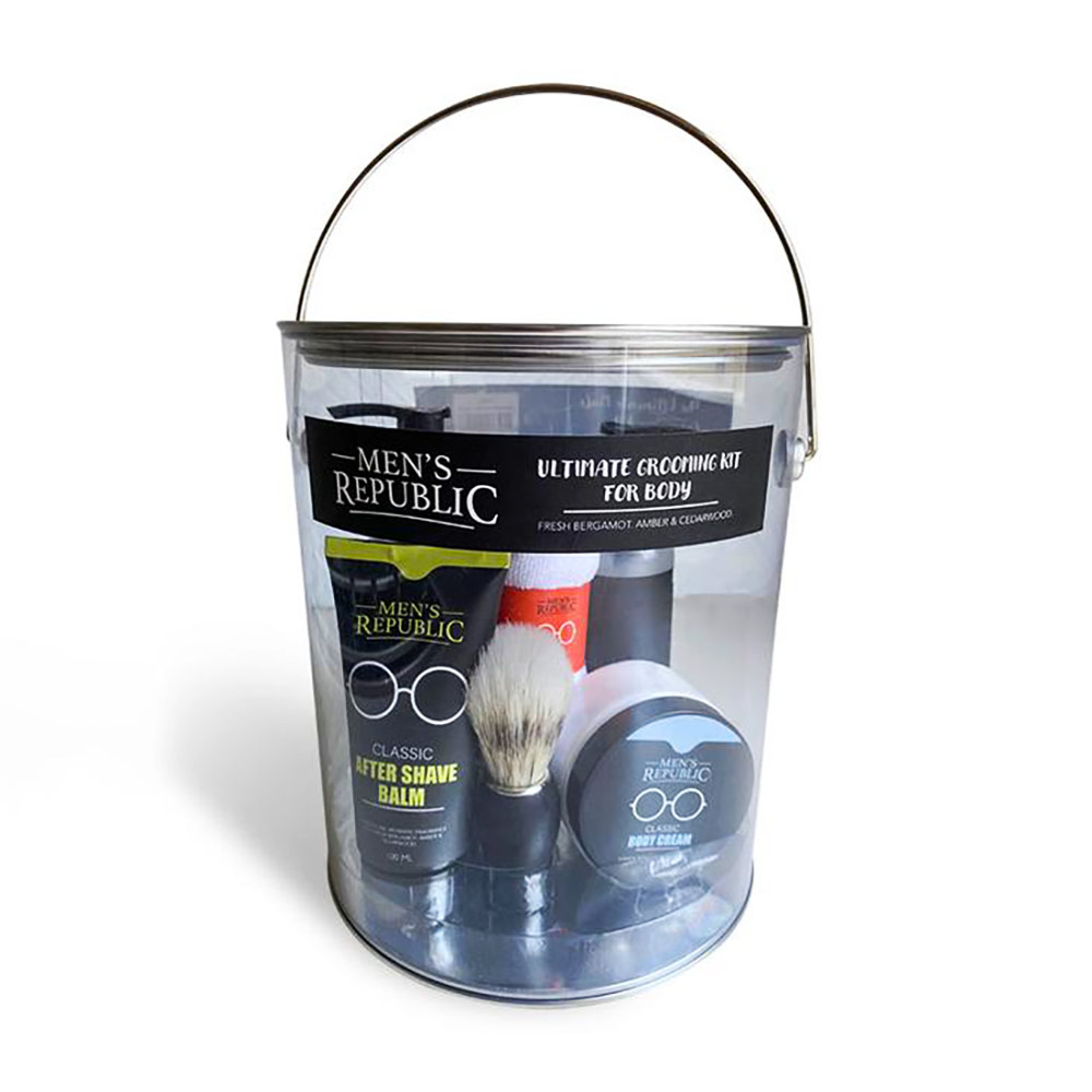 Men's Republic Ultimate Grooming Kit for Men - 7 pcs in Paint Can | the design gift shop