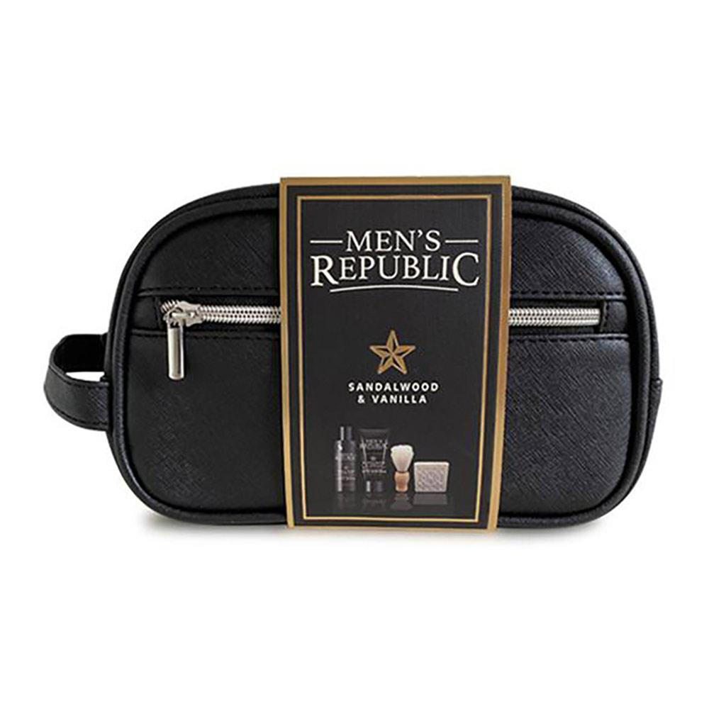Men's Republic 4 pcs Grooming Kit in Toiletry Bag   the design gift shop