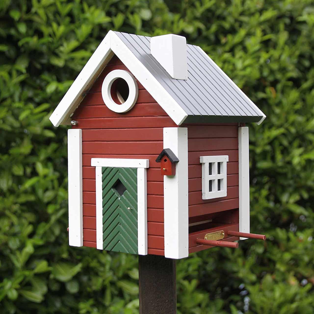 WILDLIFE GARDEN Bird Feeder & Nesting Box Red Cottage | the design gift shop